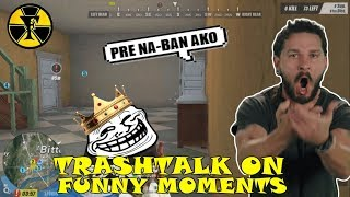 TRASHTALK ON |FUNNY MOMENTS | (Rules of Survival) [TAGALOG]