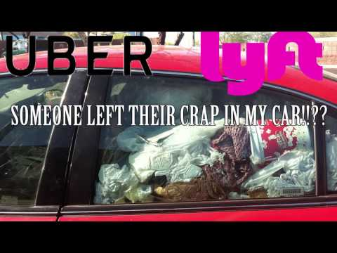 Someone left their crap in my car!! - UBER / LYFT