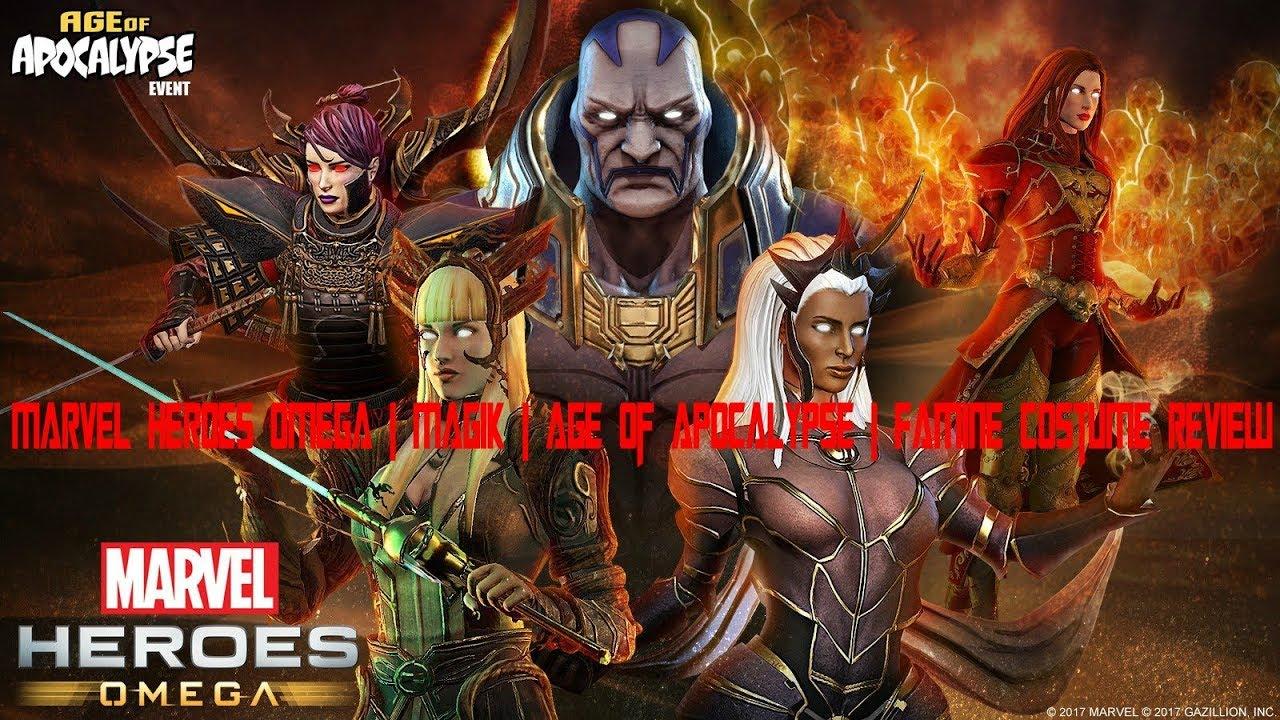 Marvel Heroes Omega   Magik   Age Of Apocalypse   Famine Costume Review