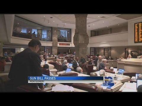 Alabama House of Representatives passes controversial gun bill