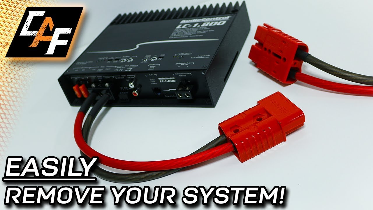 hight resolution of quick disconnect your amplifier battery harness plug review