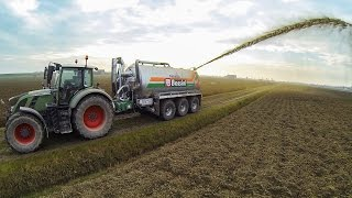 Fendt 724 Vario + Bossini B260 - Liquid Manure Spreading 2015