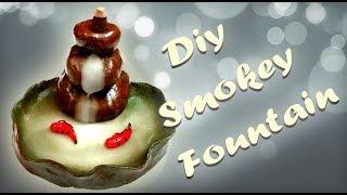 DIY Backflow Incense Smokey Fountain/ Air dry clay/Art and craft