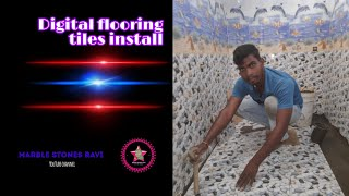 How to digital flooring tiles bathroom install