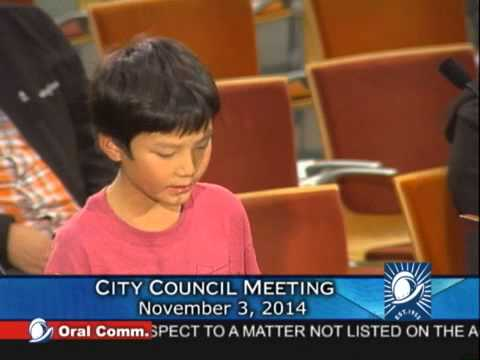 Allen Yao Speaks at Cupertino City Council
