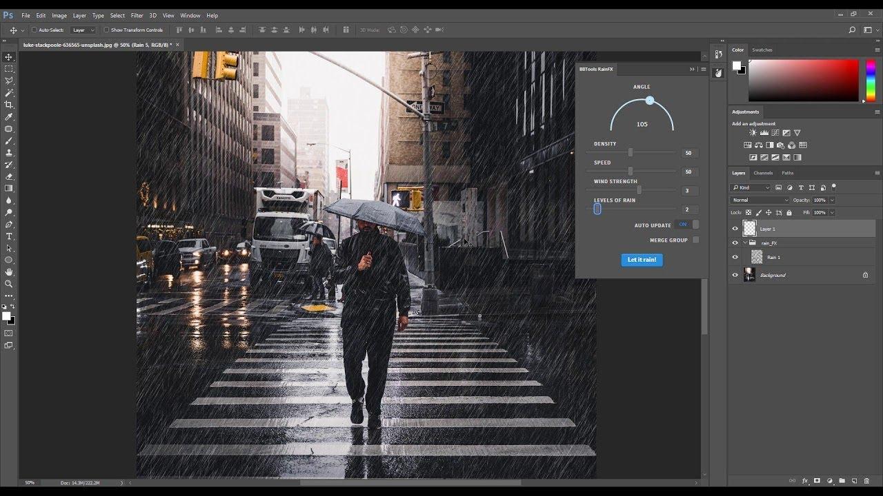 RainFX Photoshop Extension Tutorial