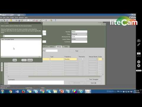 Oracle Property Management - Location Creation to Lease Creation