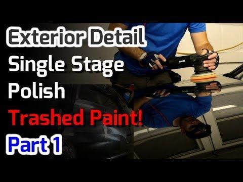Single Stage Polish // Trashed Black Paint // Audi A4 // Part 1