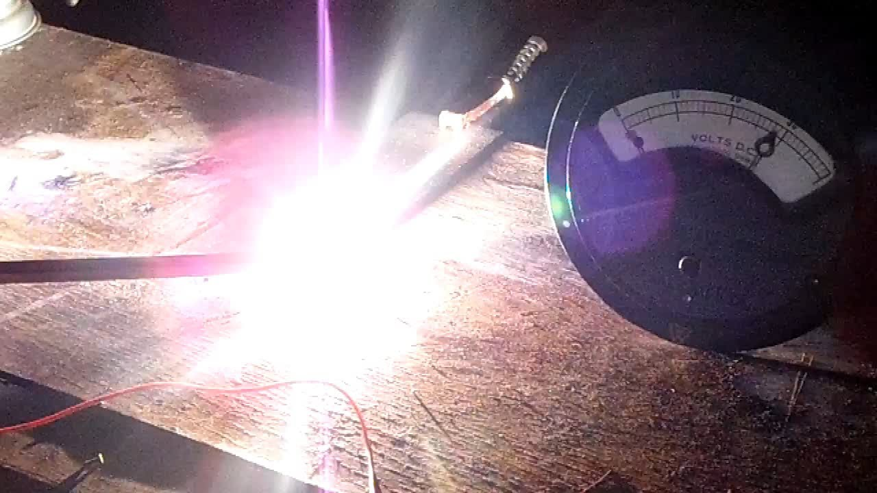 DIY Arc Furnace first test - YouTube