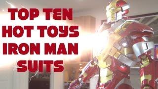TOP TEN 10 HOT TOYS IRON MAN SUITS