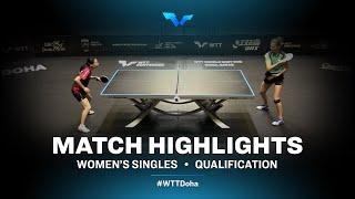 Olga Vorobeva vs Choi Hyojoo | WTT Contender Doha 2021 | Women's Singles | QUAL Highlights