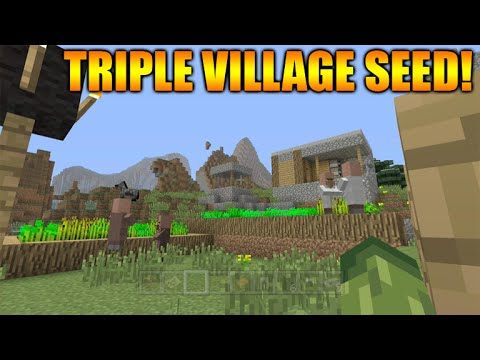★Minecraft Xbox 360 + PS3: TU25 Seed Showcase - Triple Village, Large Extreme Hills Biome & More! ★