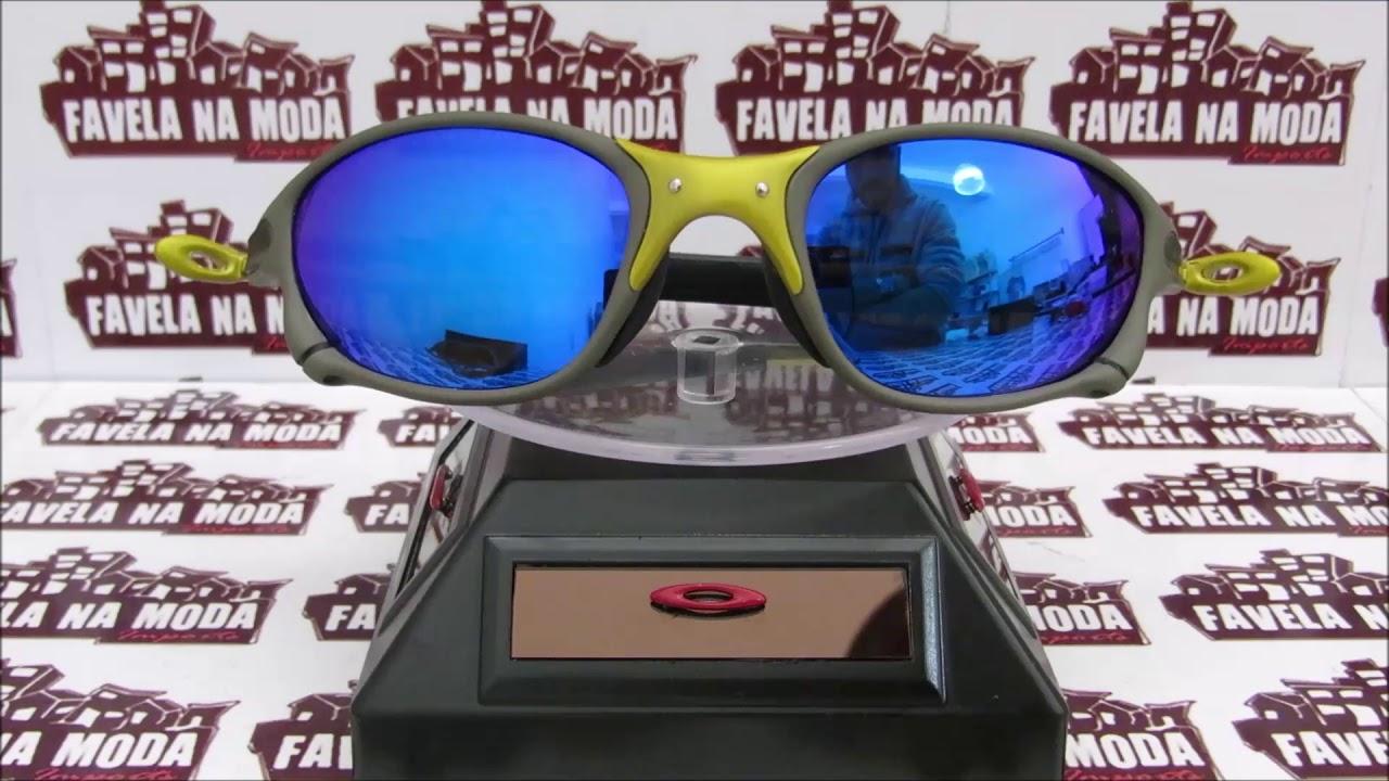 20a7d58c74cd1 Óculos Oakley Double XX   24k   Blue Neon... Só R 179,00 + Frete Grátis. Favela  Na Moda Imports