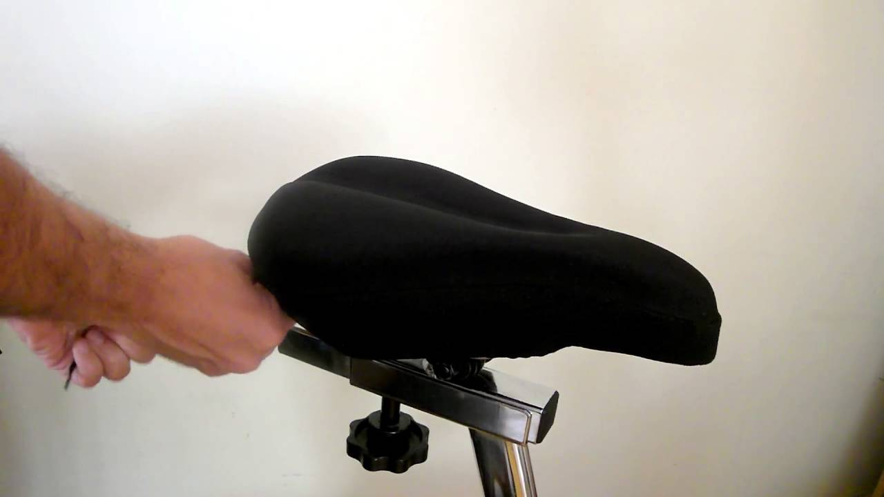 2edfeab56a2 Bikeroo Bike Seat Cushion - Comfortable Bicycle Saddle Gel Pad - Easy to  setup for Indoor Cycling