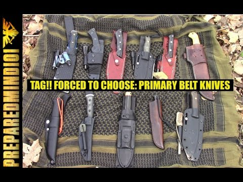Tag!! Forced To Choose: Three Primary Belt Knives (One Budget) - Preparedmind101