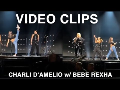 Charli D'amelio Performing With Bebe Rexha