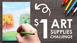 "CHEAP ART SUPPLY ""CHALLENGE"" -  w/ NerdECrafter"