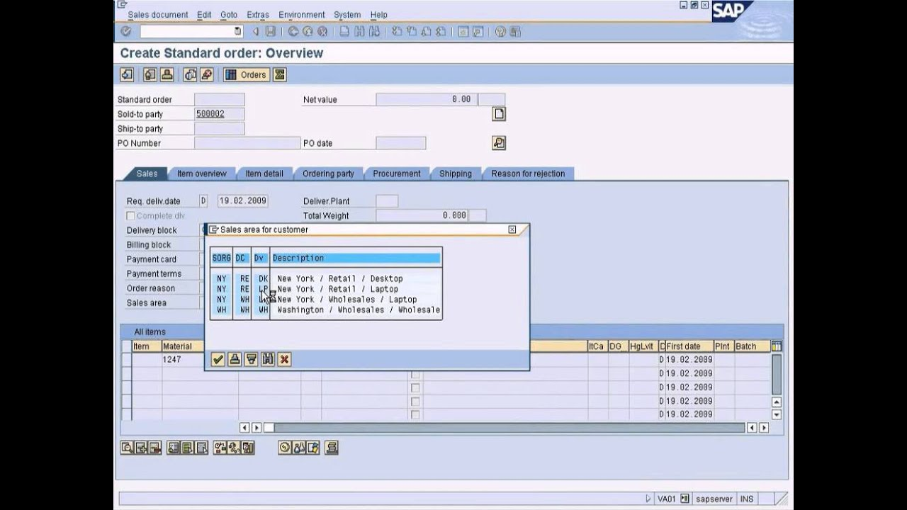 SAP SD - Inter Company Sales Part 2