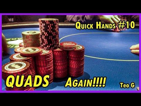 QUAD 5's !!!! At Casino Niagara |2/5 NL Holdem| Quick Hands #10