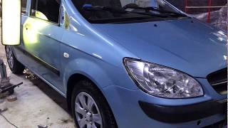 Hyundai Getz - ремонт вмятин без покраски по технологии PDR.