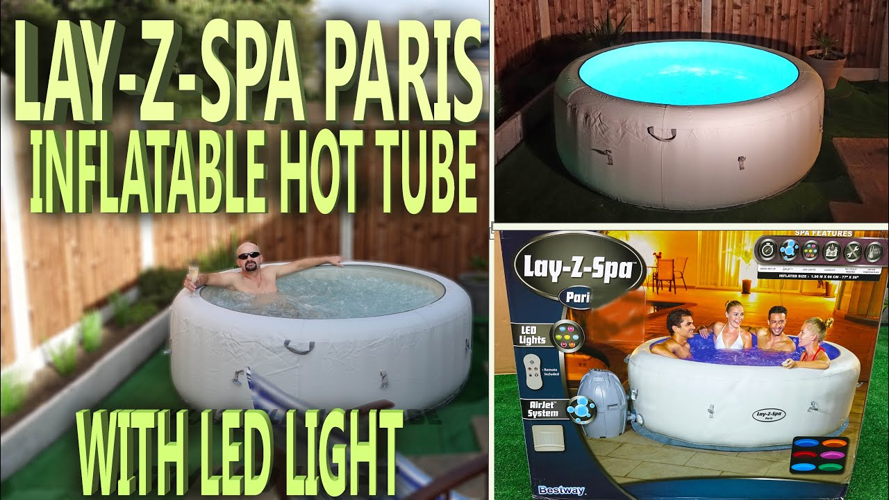 lazy spa paris unboxing inflatable hot tub with led. Black Bedroom Furniture Sets. Home Design Ideas