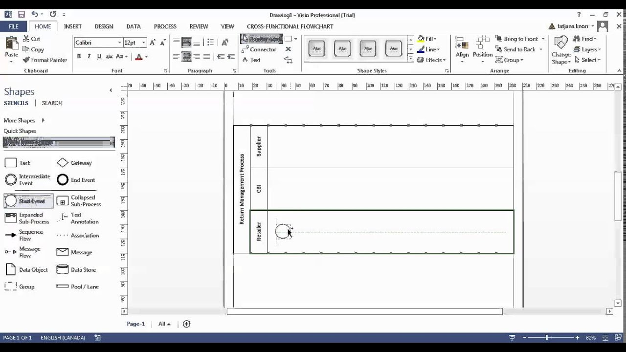 Bpmn diagrams with visio 2013 youtube bpmn diagrams with visio 2013 ccuart Image collections