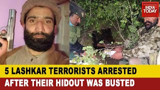 Jammu And Kashmir News: 5 Lashkar Overground Workers Arrested In Budgam; Hideout Busted