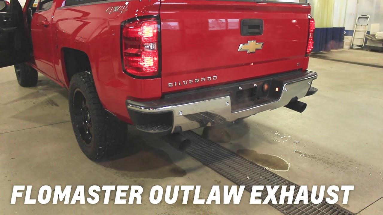 2018 chevrolet silverado stock exhaust flowmaster outlaw catback exhaust
