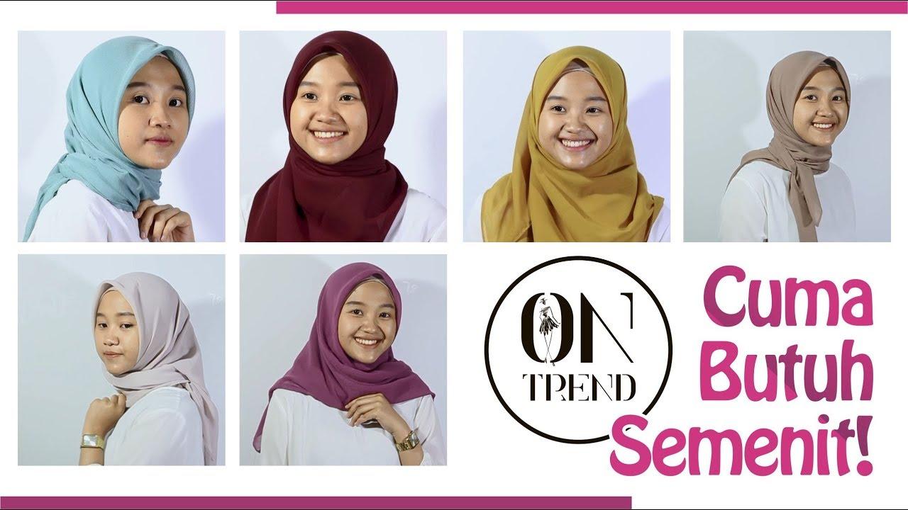 6 Gaya Simple Hijab Segi Empat Tips Dan Tutorial Hijab Ramadan Youtube
