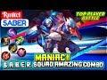 Maniac  Saber Squad Amazing Combo  Rmitci Saber  Mobile Legends