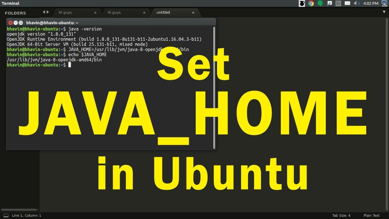 How to set JAVA_PATH & JAVA_HOME in Ubuntu or Linux