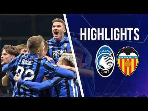 UCL Round of 16 1st leg Atalanta-Valencia 4-1 | Highlights