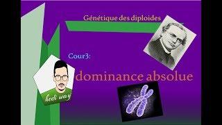 03- cour 3: dominance absolue (monohybridisme) : Génétique des diploides : bac tunisie