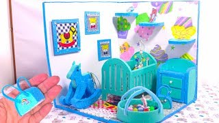 DIY Miniature Dollhouse ~ Baby Bedroom, Room Decor Backpack