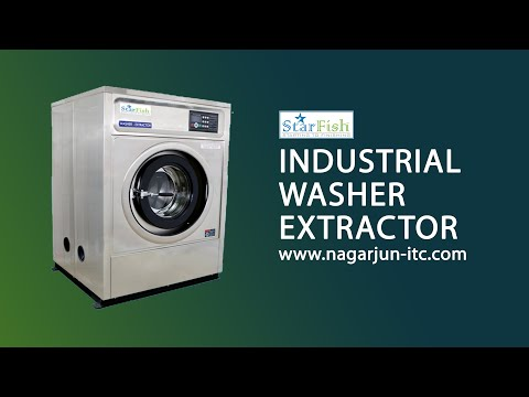 Starfish Industrial Laundry Washing Machine For Commercial Laundry |  Available From 9kg To 120 Kg