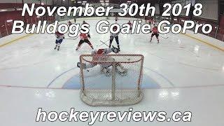 November 30th 2018 Bulldogs Hockey Goalie GoPro Worst Game of the Year?