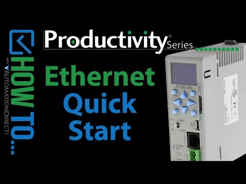 How to Connect to a Productivity Series Controller Via Ethernet