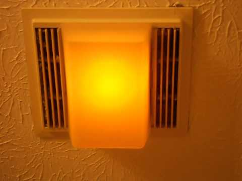 My Nutone 663lnb Exhaust Fan Youtube