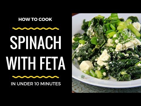 Spinach With Feta And Lemon In Under 10 Minutes