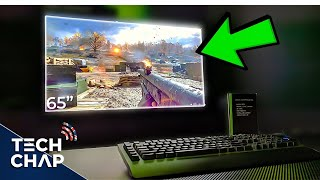 Battlefield 5 on a $5,000 Gaming TV! 😮 [4K 144hz G-Sync HDR] | The Tech Chap