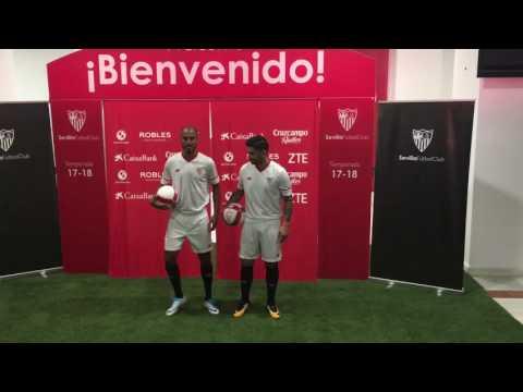 Banega y Pizarro ya lucen la camiseta del Sevilla FC