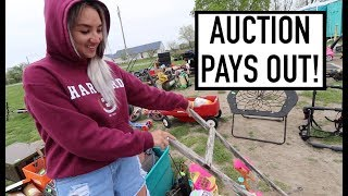 OUR FIRST TIME GETTING PAID FROM AUCTION HOUSE - How Much Did We Make?!?!