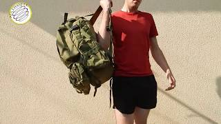 Обзор + тест ТАКТИЧЕСКОГО РЮКЗАК 45-60 Л ARMY GREEN