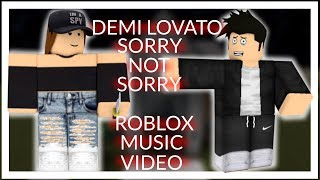 Demi Lovato - Sorry Not Sorry ROBLOX Bully/Sad/Love Story Music Video
