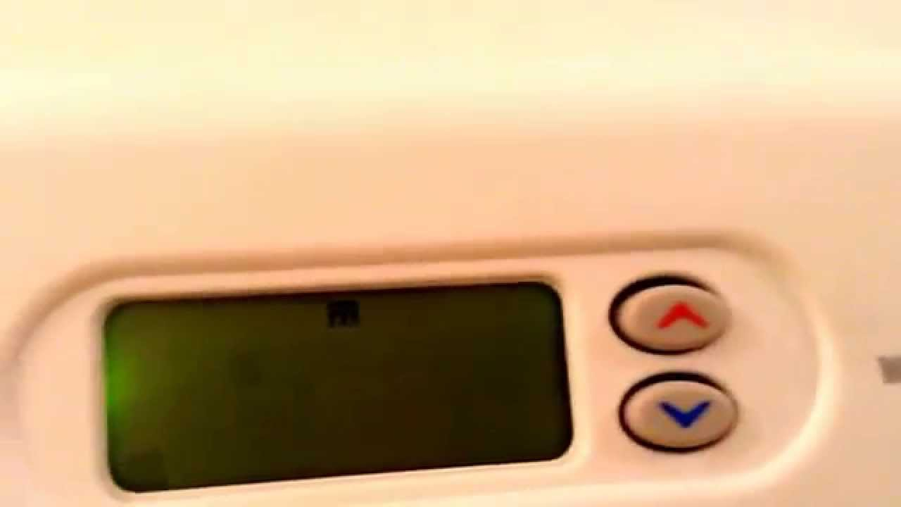 How to set the date and time on a white Rodgers thermostat