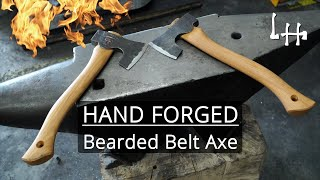 Blacksmithing: Forging a Bearded Belt Axe