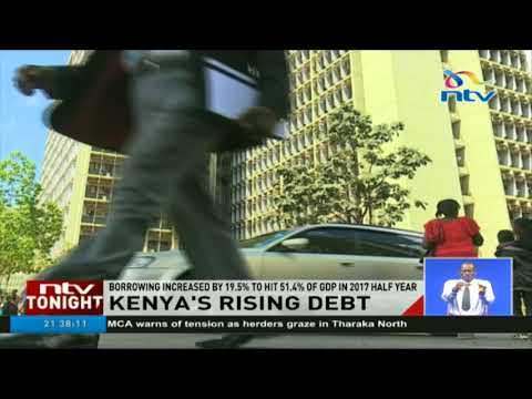 Kenya's borrowing increases by 19.5% to hit 54% of GDP