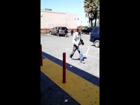 Racist Hobo At Dollar Tree In San Jose,ca