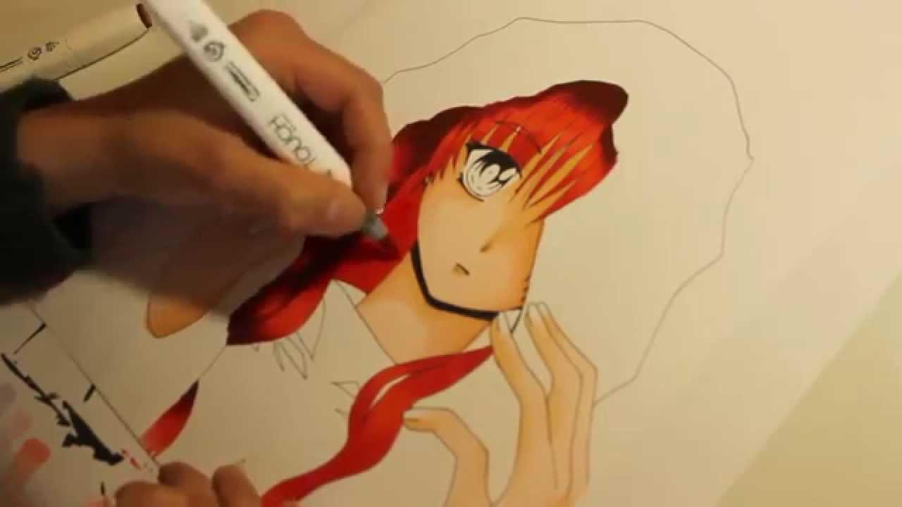 Speeddrawing Manga girl