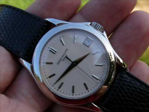 patek philippe calatrava white gold mens watch